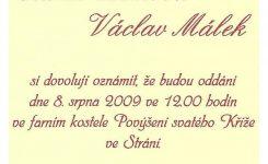 Svatba Elišky Zetkové a Václava Málka